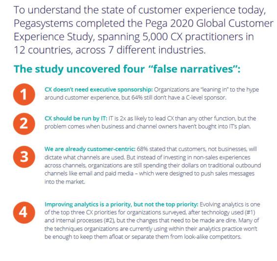 Pega Global Customer Experience Study 2020